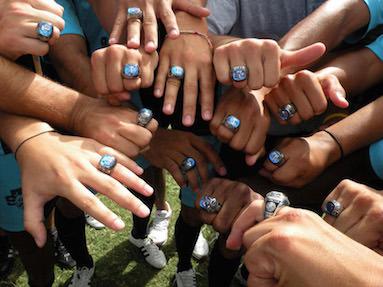 NCAA yliopistourheilun sormusten herrat
