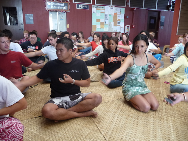 Students in Hawaiian Language in Action Class