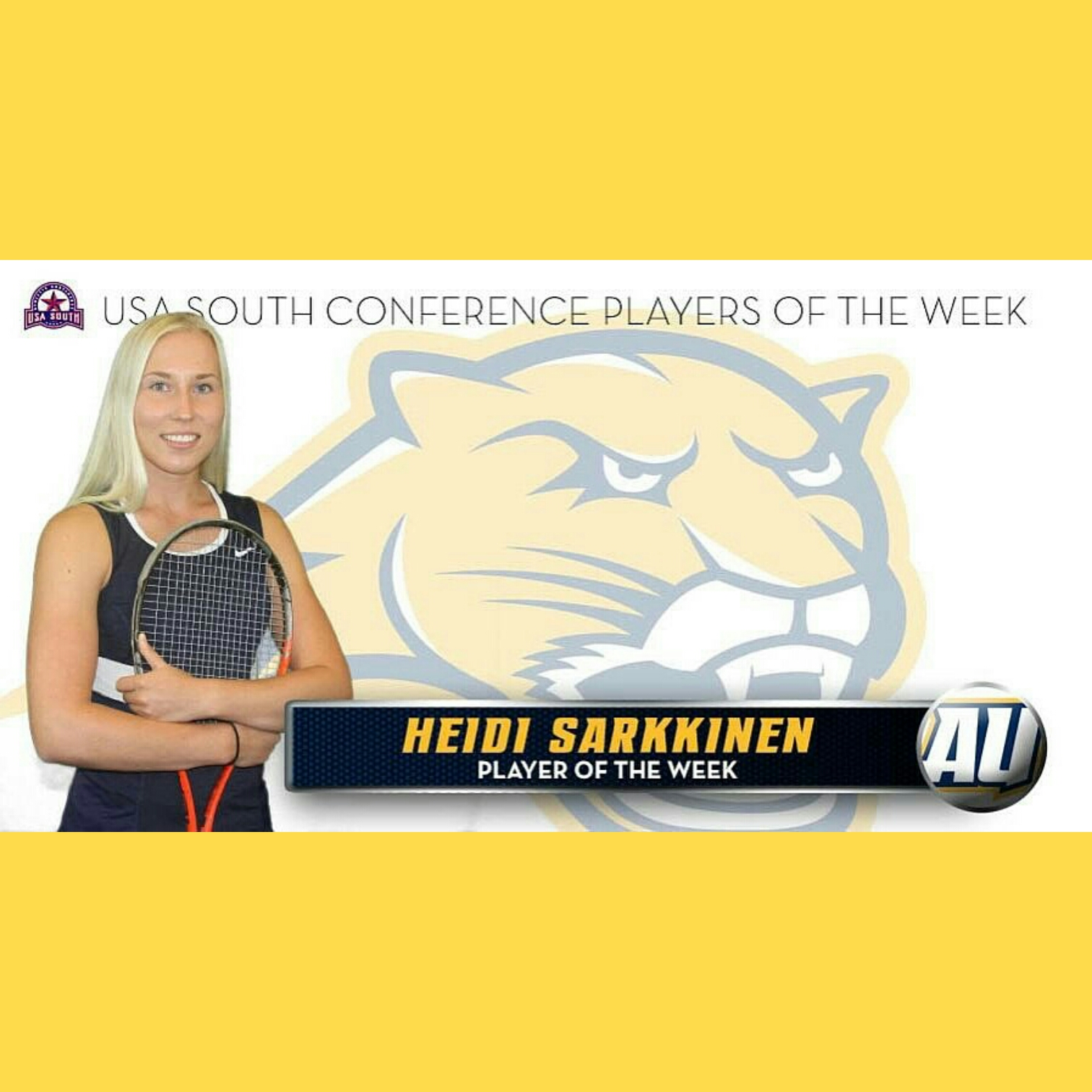 Heidi - opiskelua ja tennista USA:n Averetissa